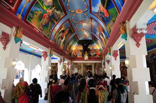 チャイナタウンのスリ・マリアマン寺院の写真素材 [FYI02081829]