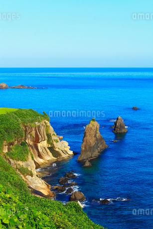 丹後半島 屏風岩の写真素材 [FYI02082392]