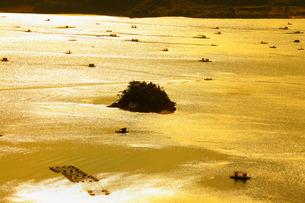 ウチノ海の釣筏の写真素材 [FYI02082918]