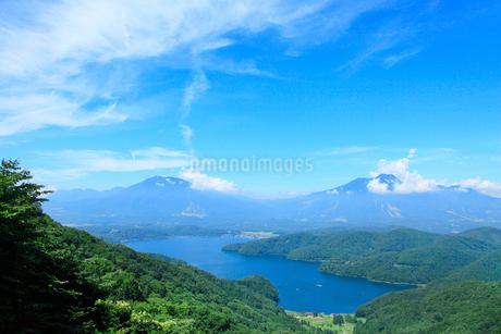 斑尾山登山道より野尻湖と妙高山の写真素材 [FYI02082986]