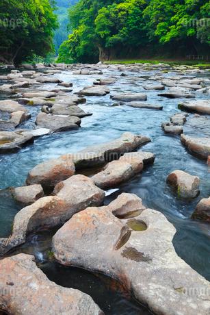 関之尾の滝 甌穴群の写真素材 [FYI02083049]