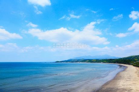 大隅半島 辺田海岸と鹿児島湾の写真素材 [FYI02083273]