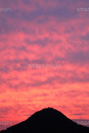 白山と夕焼けの写真素材 [FYI02083929]