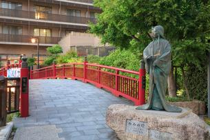 有馬温泉 ねね橋とねねの像の写真素材 [FYI02084329]