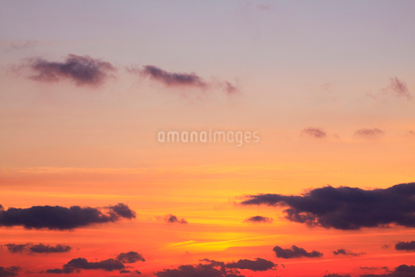 朝焼けの空の写真素材 [FYI02084696]