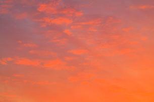 朝焼けの空の写真素材 [FYI02084782]