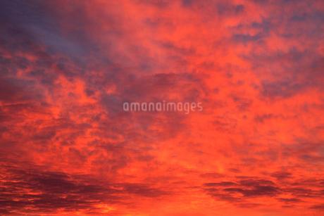 朝焼けの空の写真素材 [FYI02085187]