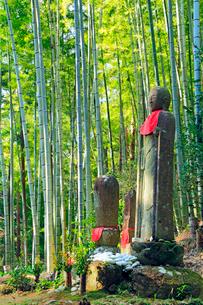 熊野古道松本峠・鉄砲傷の地蔵の写真素材 [FYI02085248]