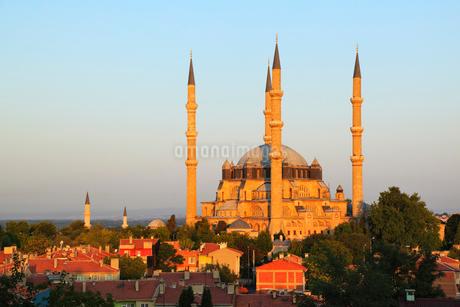 朝焼けのセリミエ・モスクの写真素材 [FYI02085255]