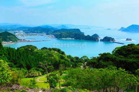 観音崎と外之浦港 日向灘の写真素材 [FYI02085275]