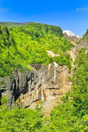 安達太良山西麓 新緑の白糸の滝の写真素材 [FYI02085329]