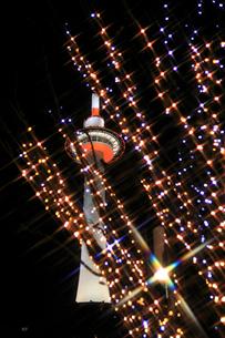 京都タワーライトアップ 駅前イルミネーションの写真素材 [FYI02085469]