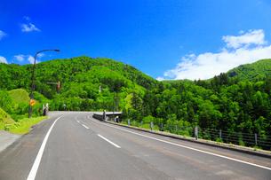 三国峠の道路の写真素材 [FYI02087077]