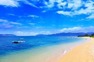 沖縄石垣島 フサキビーチの海の写真素材 [FYI02087185]