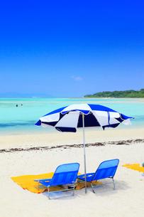 沖縄竹富島 コンドイビーチの海の写真素材 [FYI02087187]