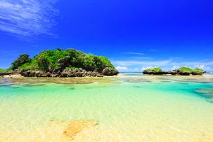 沖縄西表島 星砂の浜と海の写真素材 [FYI02087248]