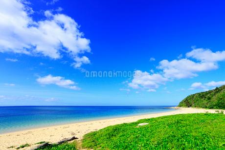 沖縄西表島 南風見田の浜と海の写真素材 [FYI02087632]