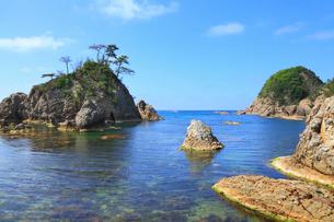 浦富海岸と日本海の写真素材 [FYI02087677]