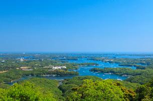 新緑の横山展望台から望む英虞湾の写真素材 [FYI02088801]