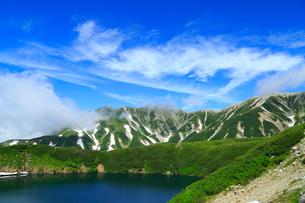 立山黒部・室堂平 みくりが池と立山連峰の写真素材 [FYI02089322]