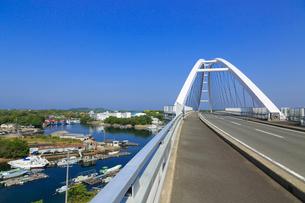 志摩パールブリッジと英虞湾の写真素材 [FYI02089330]