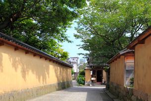 金沢・長町武家屋敷跡の写真素材 [FYI02089403]