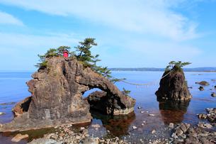能登金剛 機具岩の写真素材 [FYI02089605]