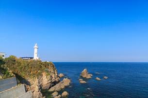 大王埼灯台と太平洋の写真素材 [FYI02089654]