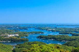 新緑の横山展望台から望む英虞湾の写真素材 [FYI02089770]