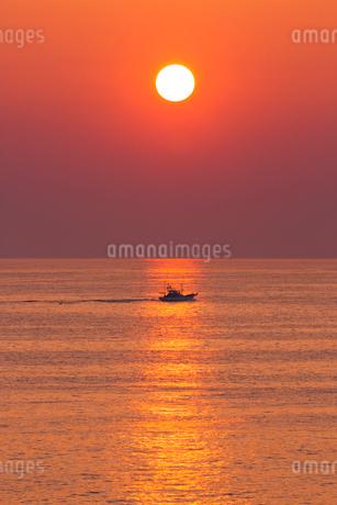 安乗岬 海と水平線に朝日の写真素材 [FYI02090075]