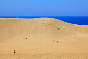 鳥取砂丘と日本海の写真素材 [FYI02090177]