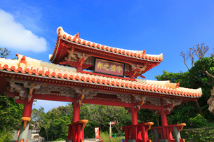 沖縄本島 首里城・守礼門の写真素材 [FYI02090253]