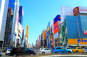 大阪・道頓堀のビル群の写真素材 [FYI02090977]