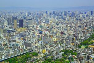 あべのハルカスより梅田方面と大阪の街並みの写真素材 [FYI02092187]