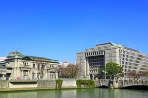 中之島 日本銀行・大阪市役所と淀屋橋の写真素材 [FYI02092353]