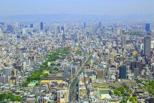 あべのハルカスより梅田方面と大阪の街並みの写真素材 [FYI02092999]