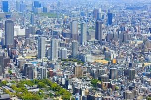 あべのハルカスより大阪ビジネスパークとビル群の写真素材 [FYI02093633]