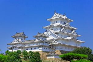 姫路城と大天守の写真素材 [FYI02093655]