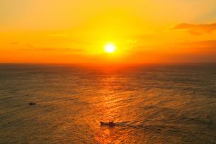 足摺岬の朝日と海の写真素材 [FYI02094277]