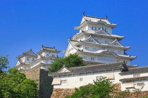 姫路城と大天守の写真素材 [FYI02094395]