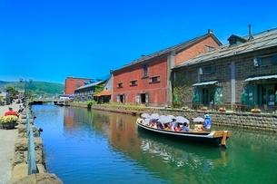 小樽,小樽運河と倉庫群の写真素材 [FYI02094533]