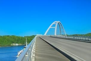 伊勢志摩,志摩大橋と英虞湾の写真素材 [FYI02094855]
