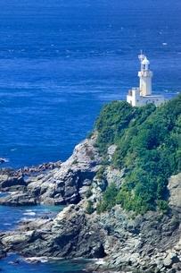 佐田岬半島先端の佐田岬灯台に豊予海峡の写真素材 [FYI02094860]