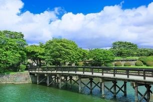函館 五稜郭二の橋の写真素材 [FYI02095597]
