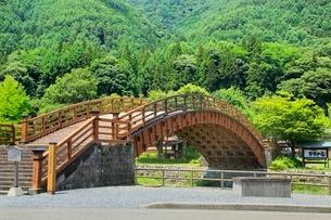 奈良井宿 木曽の大橋の写真素材 [FYI02095671]