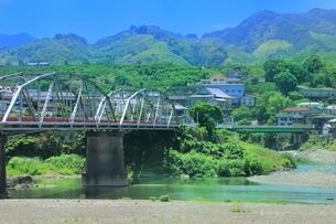 九度山の町と紀ノ川の写真素材 [FYI02095901]