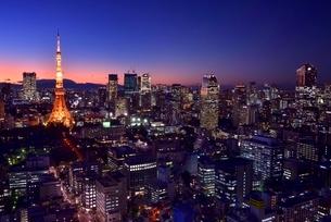 貿易センタービルより東京タワーとビル群夜景の写真素材 [FYI02096161]
