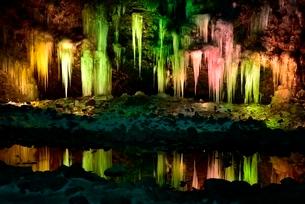 荒川の氷柱群ライトアップの写真素材 [FYI02096183]