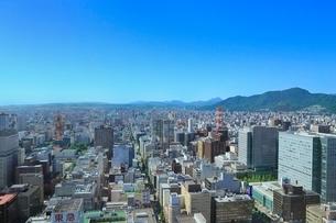JRタワーから望む札幌市街の写真素材 [FYI02096285]