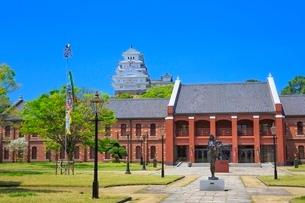 新緑の姫路城 姫路市立美術館と天守閣の写真素材 [FYI02096861]